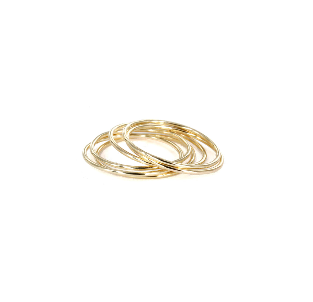 "14K Yellow Gold ""Forget Me Not"" Ring(s)"