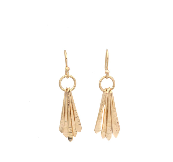 "Ray, 14k Gold Filled ""5 Points Petite"" Earrings"