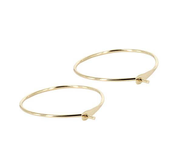 14K Yellow Gold 30mm Diameter Hoop Earrings