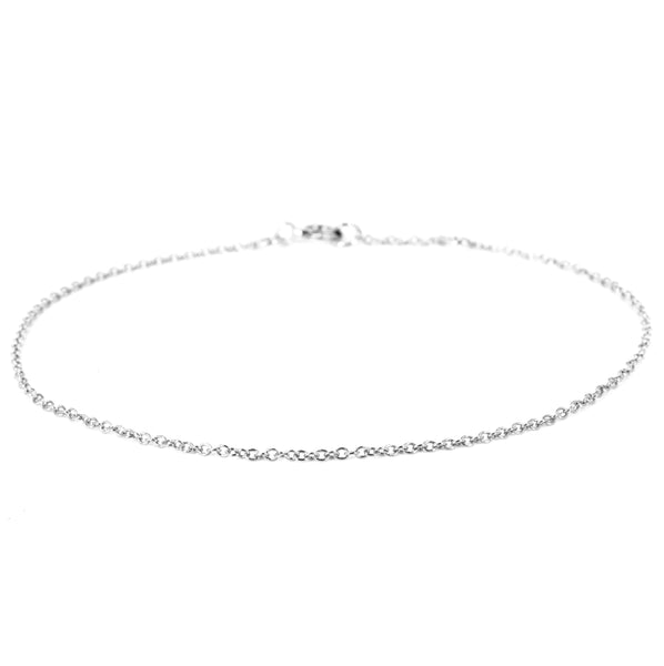 14K Yellow Gold or Sterling Silver 1mm Cable Chain Bracelet