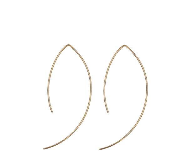 Sue, Hook Shaped Threader Earrings
