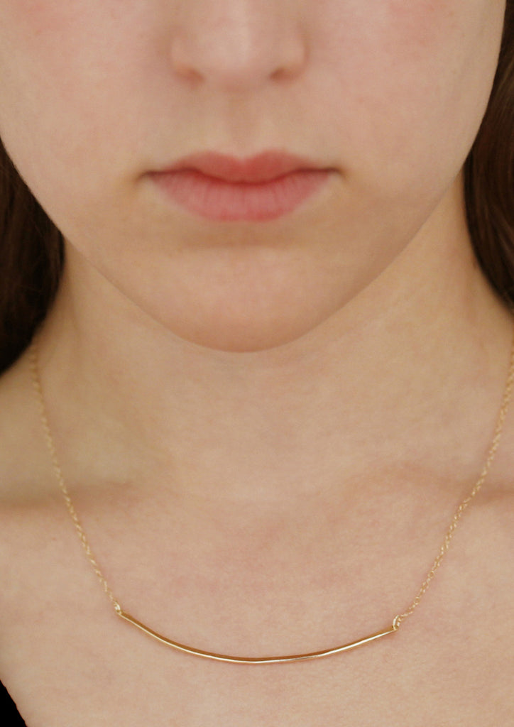 Zora, 14kt Gold Filled or Sterling Silver Arc Necklace
