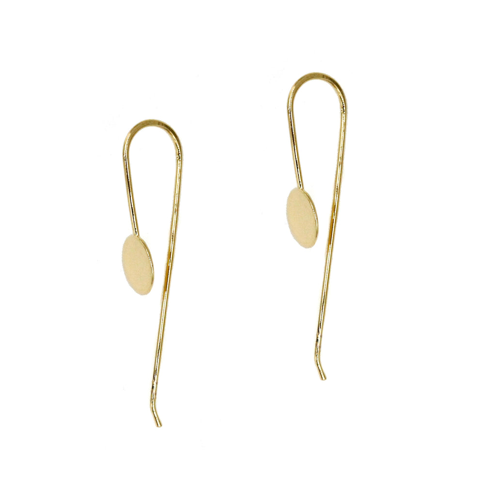 Virginia, Delicate Disc Threader Earring