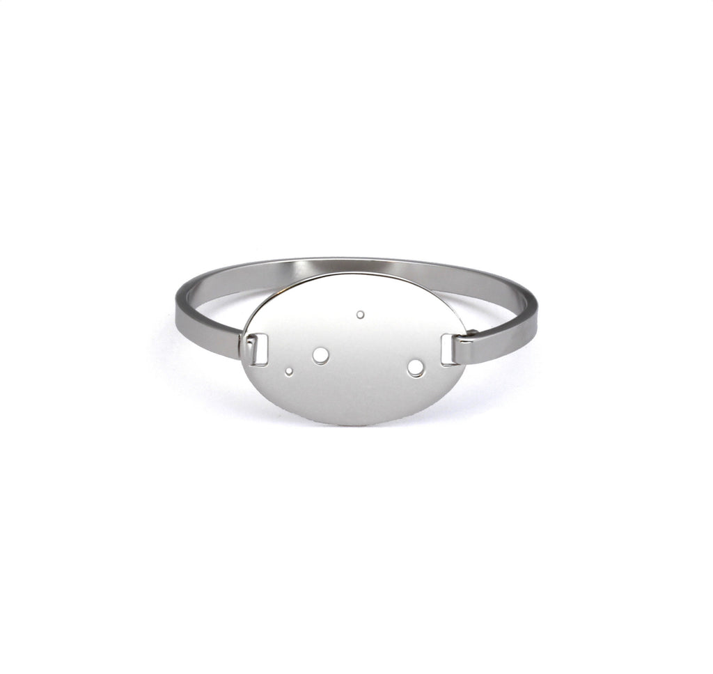 Sterling Silver Dipped Zodiac Constellation Oval Bracelet, All 12 Signs: Aries through Pisces
