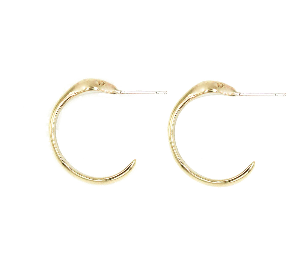 Small Snake Hoop Earrings