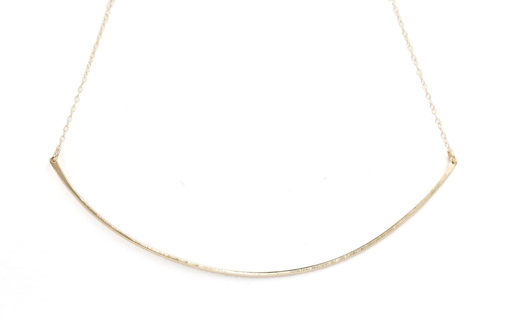Emma, 14kt Gold Filled or Sterling Silver Arc Necklace