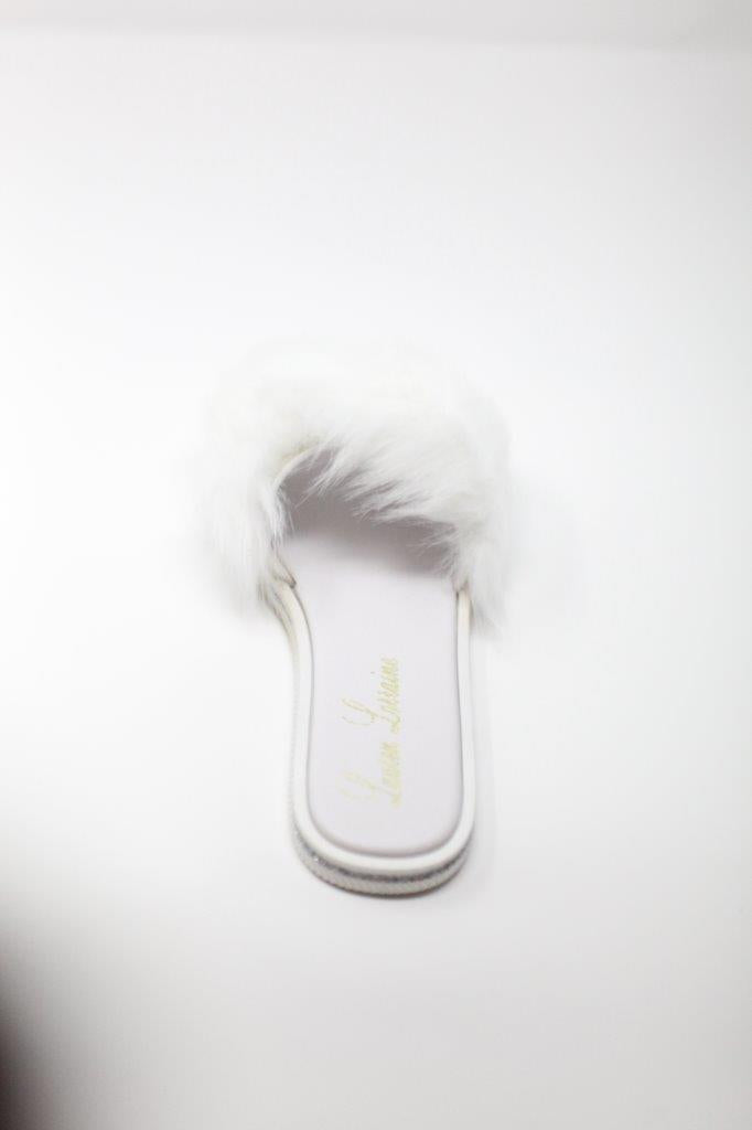 FLUFFY faux fur flat