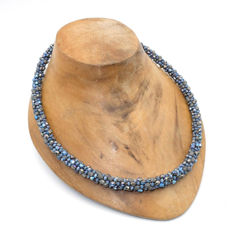 Beaded Kumihimo necklace with magnetic clasp