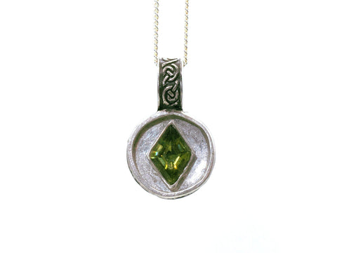 Necklace - Celtic Olivine Pendant