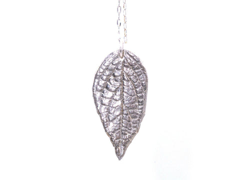 Necklace - Fine Silver Leaf Pendant