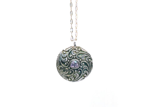 Necklace - Lavender Swirl Pendant