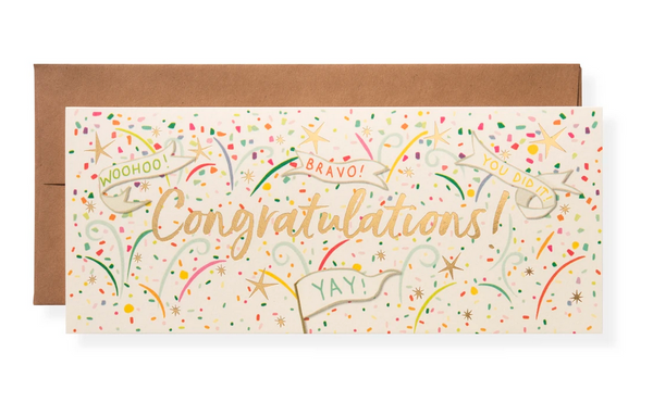 Karen Adams Greeting Card - Congrats, Yay