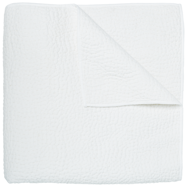 John Robshaw Hand Stitched Coverlet White