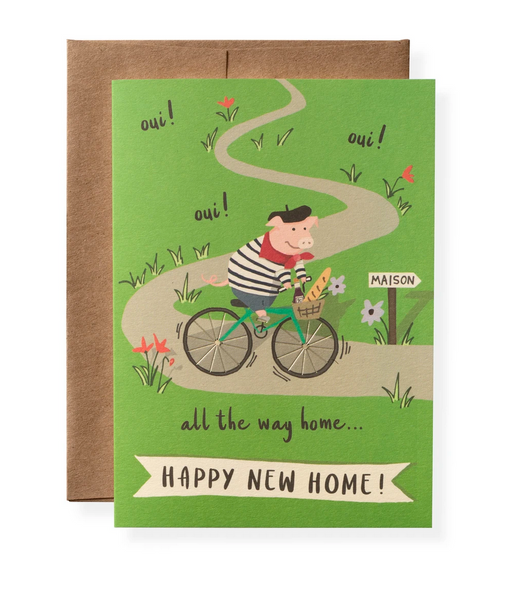 Karen Adams Greeting Card - Congrats, Oui Oui Happy New Home