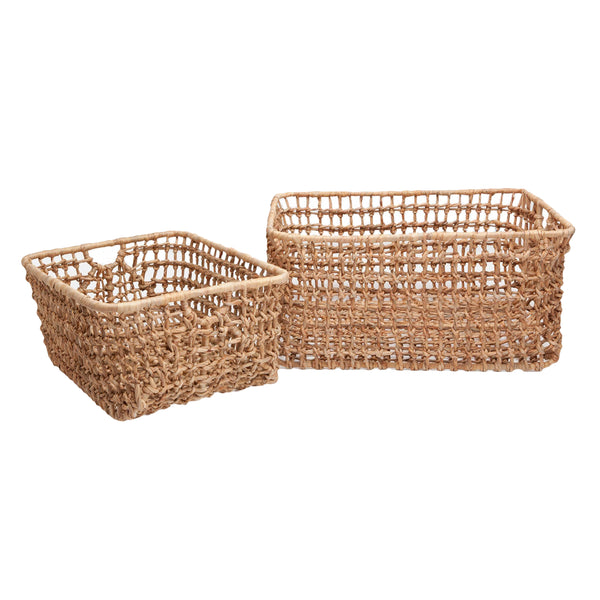 Pigeon & Poodle Ardross Small Basket, Natural Hyacinth