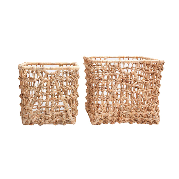 Pigeon and poodle bern small basket, natural