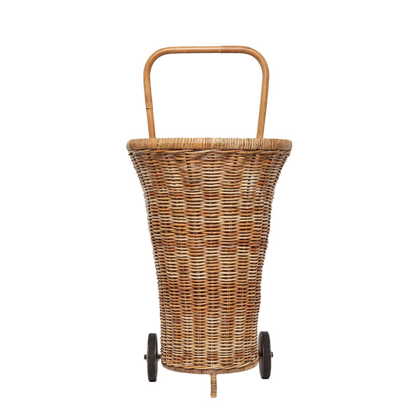 Pigeon & Poodle Chambery Rattan Shopping Cart, Natural