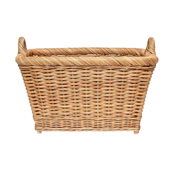 Pigeon & Poodle Derry Rectangular Basket, Natural Rattan