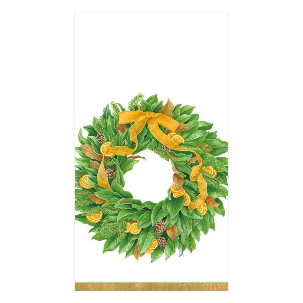 Magnificent Magnolia Wreath, Guest Towels