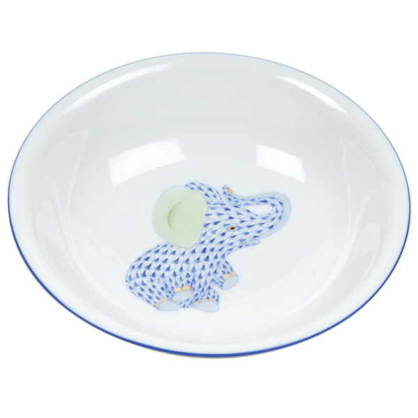 Herend Elephant Bowl, Blue