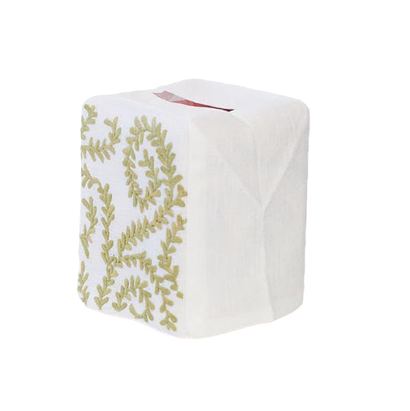 Chelsea Tissue Box Cover, Green