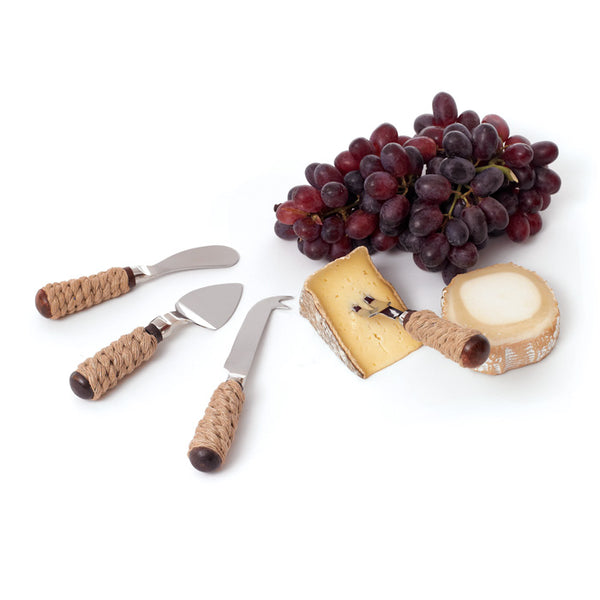 Roped Cheese Knife Set