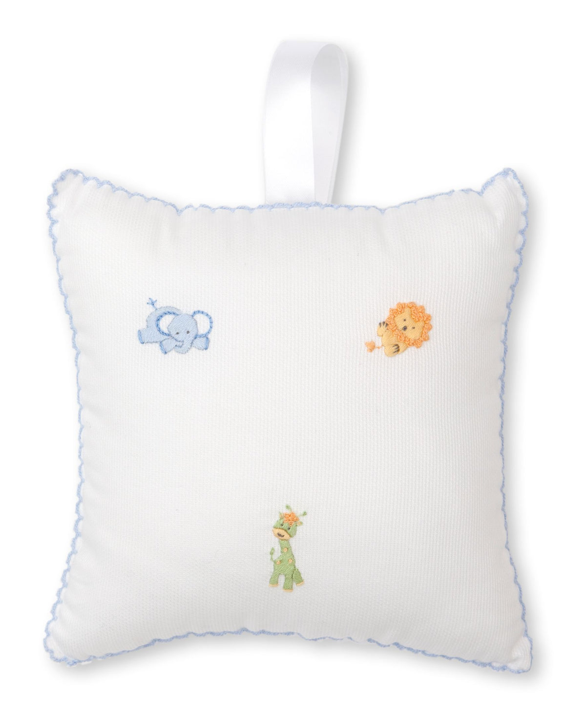 Kissy Kissy Jolly Jungle Musical Pillow White/Light Blue
