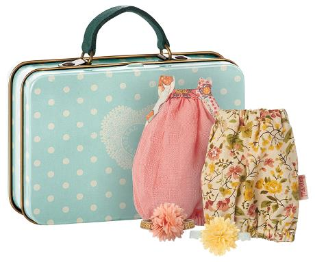 Maileg Micro Suitcase with 2 Dresses