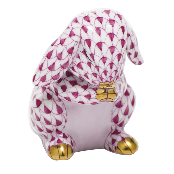 Herend Praying Bunny, Raspberry Pink