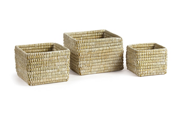 Rivergrass Mini Square Basket, Small