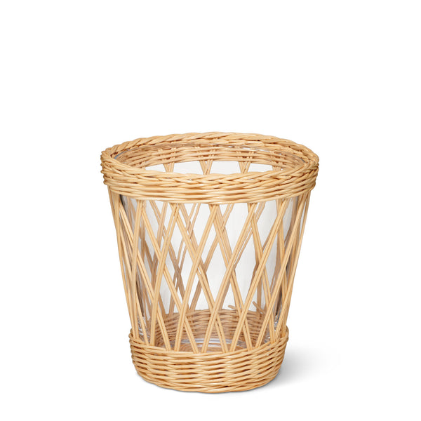 AERIN Navona Wicker Vase, Small