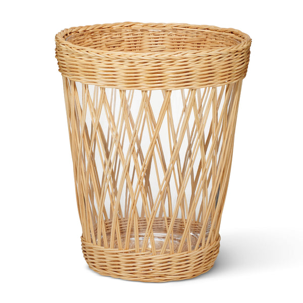 AERIN Navona Wicker Vase, Large