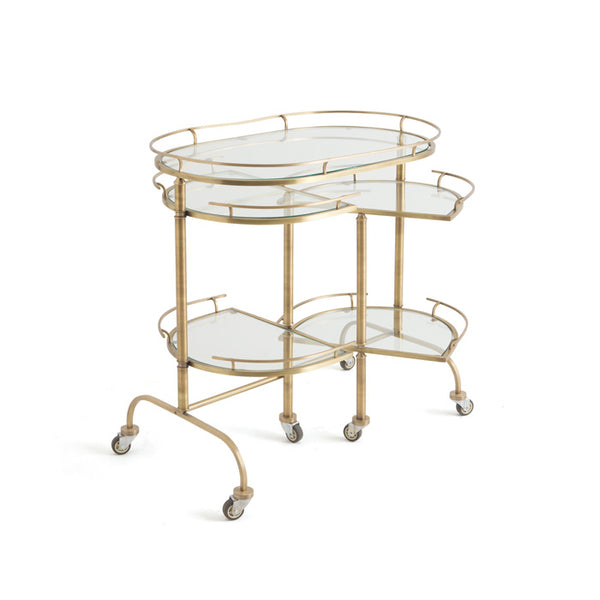 bondurants brass bar cart