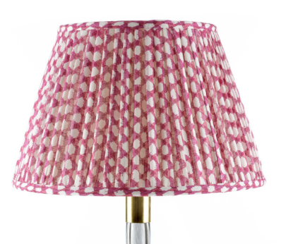Fermoie Wicker Lamp Shade in Fuschia