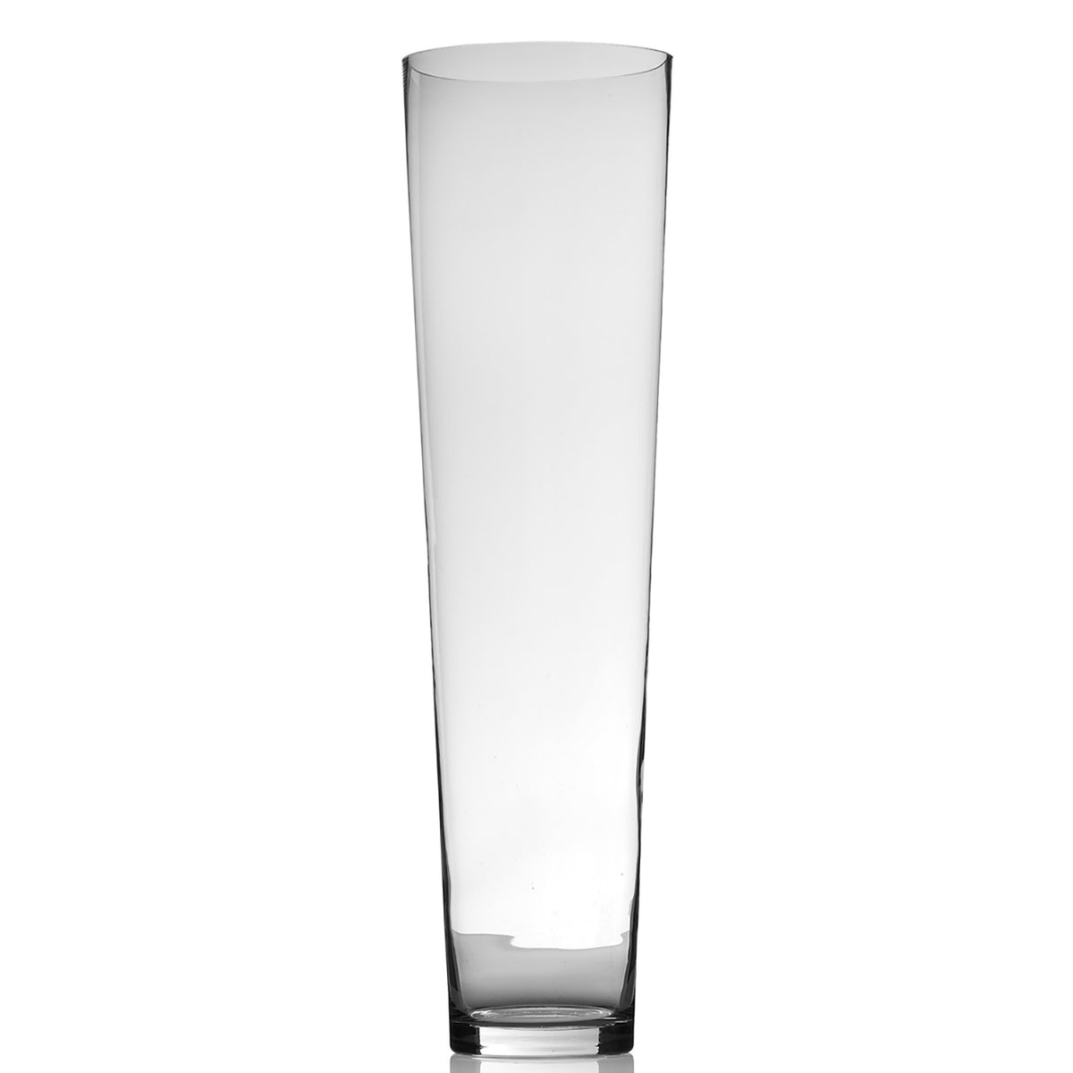 voluminous tall glass vase