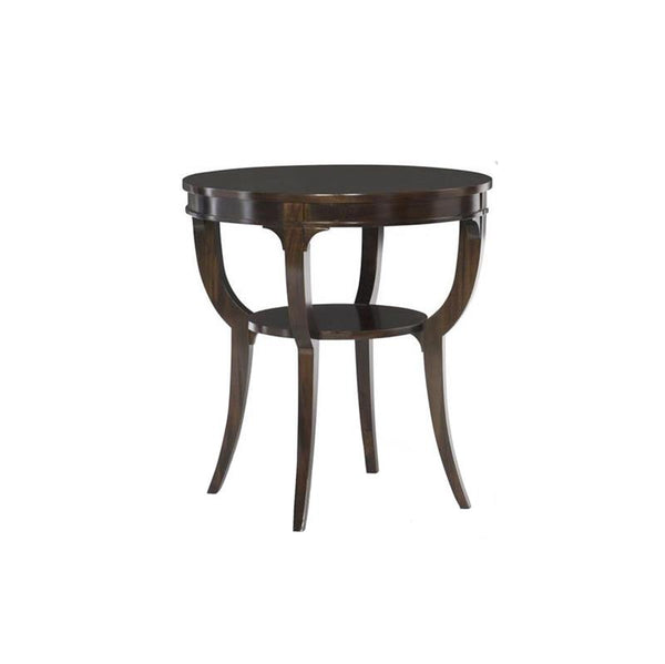 Bryant Round Side Table, Charcoal FInish