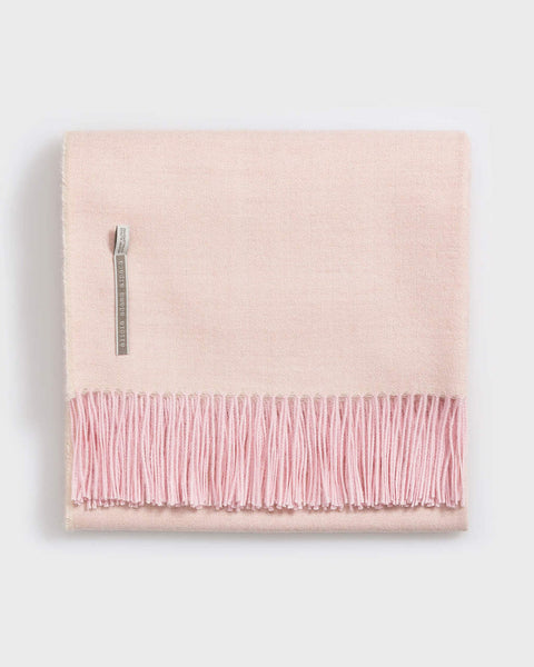 Light Pink Herringbone Throw