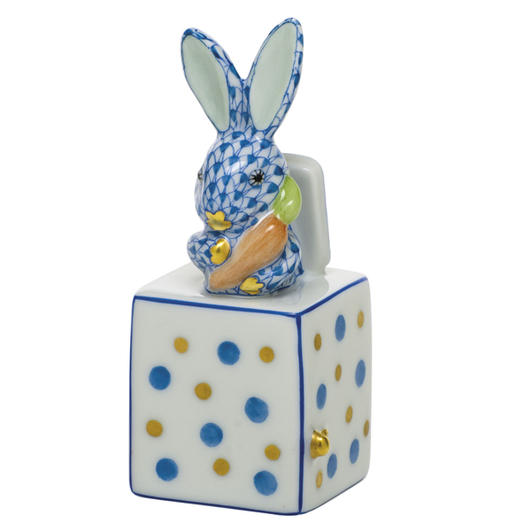 Herend Jack in the Box Bunny, Blue