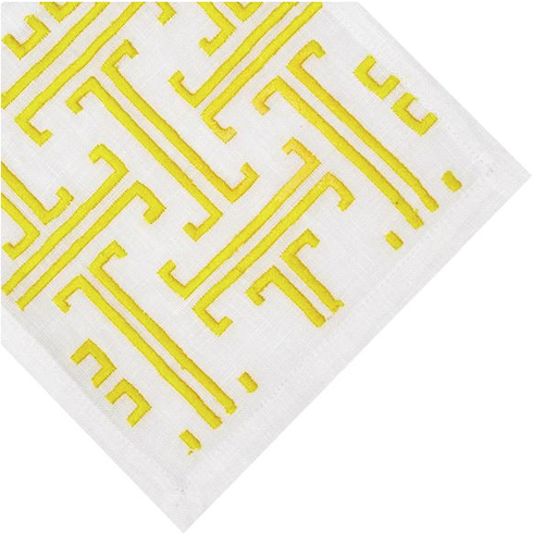 T-Design Coasters, Yellow, Set of 4