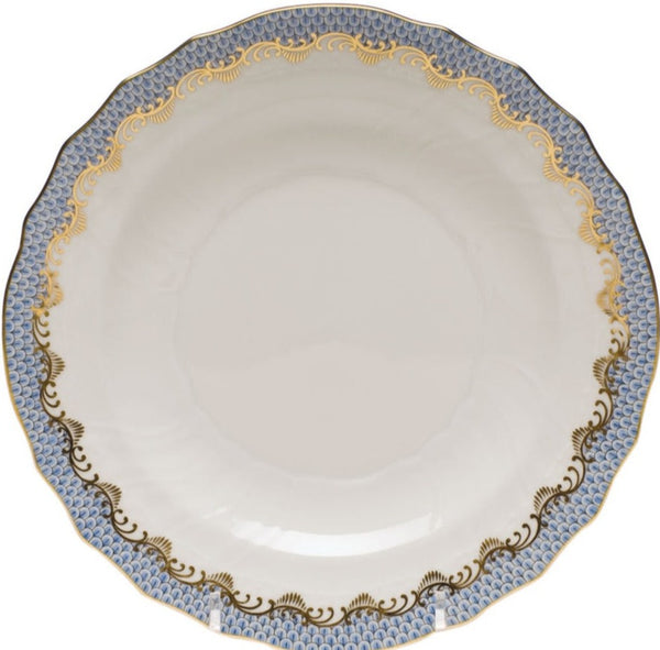 Herend Fish Scale Salad Plate, Light Blue 7.5""