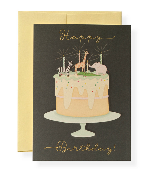 Karen Adams Greeting Card - Birthday, Party Animals