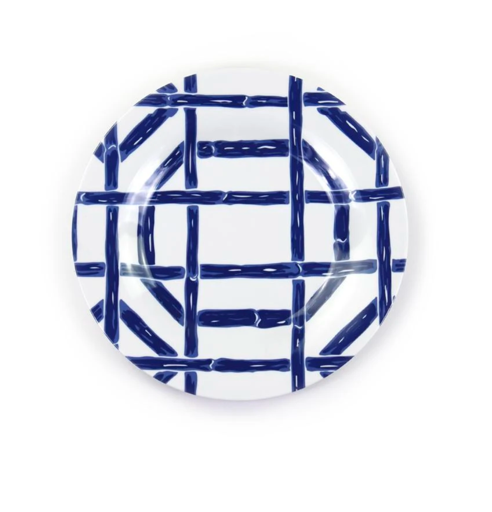 Navy Bamboo Melamine Appetizer Plate 9 Hive Home Gift And Garden