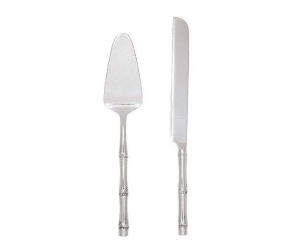 Liliana Polished Silver Cake Serving Set, 2 Pieces