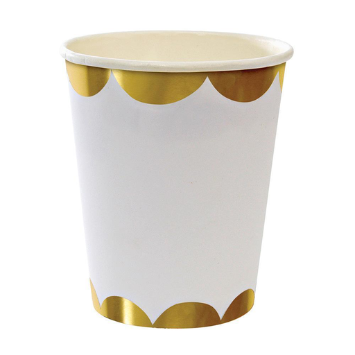 Meri Meri Gold Scallop Party Cups