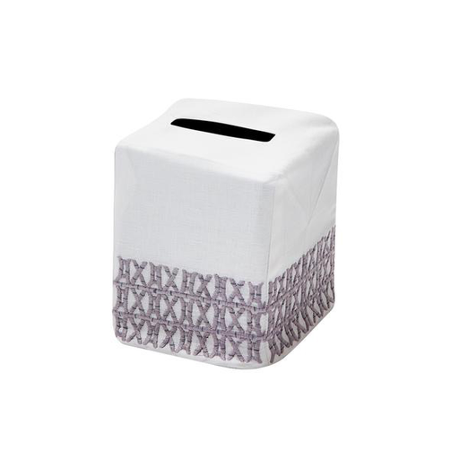 New Bamboo Tissue Box Cover, Gray