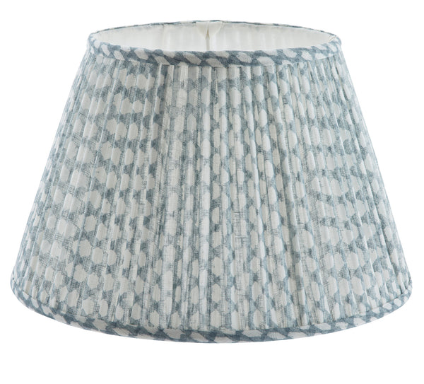 Fermoie Wicker Light Blue Lamp Shade