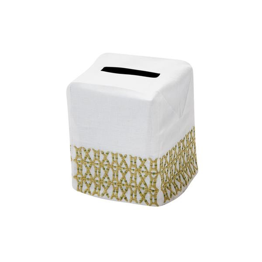 New Bamboo Tissue Box Cover, Green