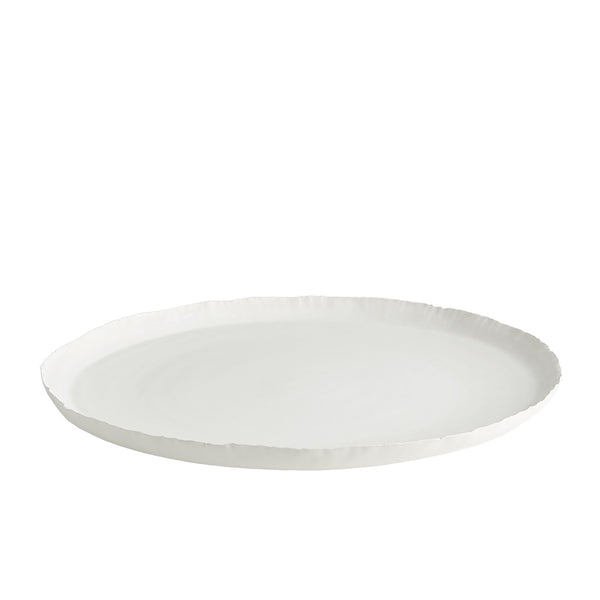 Deckled Edge Platter, Matte White