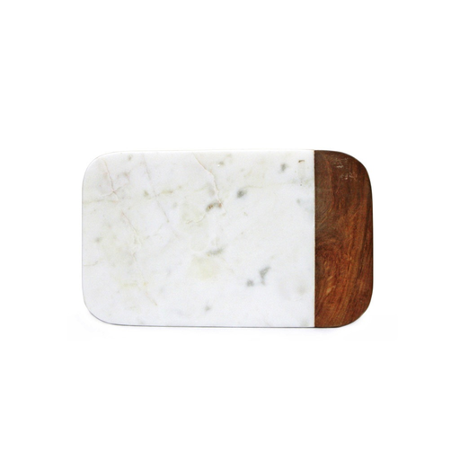 Small Marble and Wood Cheese Board, 10 X 6
