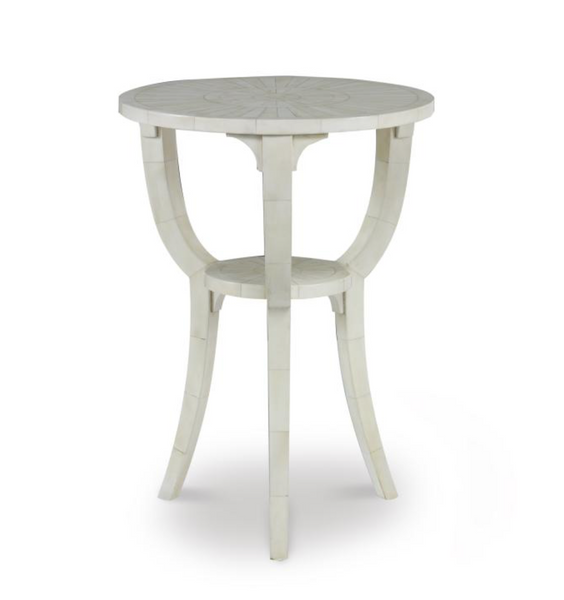 pindler side table in bone